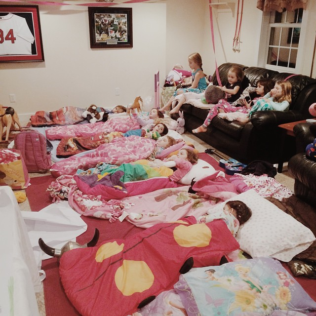 There is a great generation of girls coming your way, world. #firstslumberparty #onlyonephonecallhome